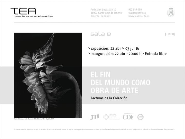 """Vacíos del Agua en la muestra """"El fin del mundo como obra de arte"""" en TEA Tenerife Espacio de las Artes"""