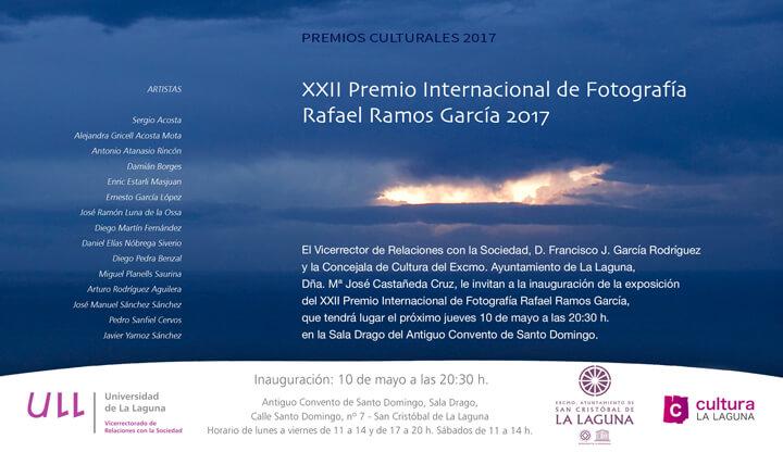 Invitación a la exposición de los XXII Premio de Fotografia Rafael Ramos Garcia de la Universidad de La Laguna ULL